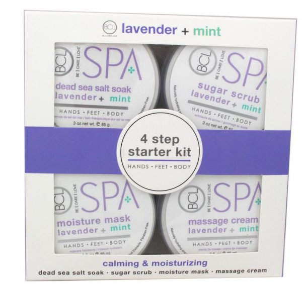 BCL SPA STARTER KIT LAVANDER&MINT KIT 4X90ml